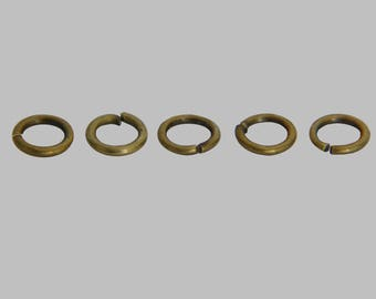 Set of 250 (8, 81g) bronze open jump rings 4 x 0, 7mm