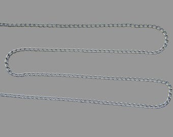 4 meters of chain METAL Silver clear links 6 x 3, 5, 1 mm