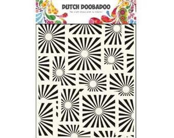 Stenciled Dutch Doobadoo Mask Squares Sunshine A5 new stencil Art