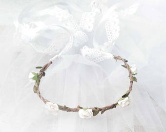 Beautiful lace and Satin head jewel Headband