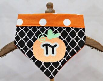 "Pumpkin ""Pie"" Fall & Halloween Dog Bandana"