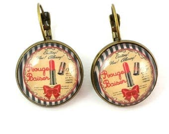 Earrings sleepers #make up vintage.