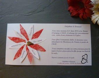 set of 70 invitations with envelope original wedding