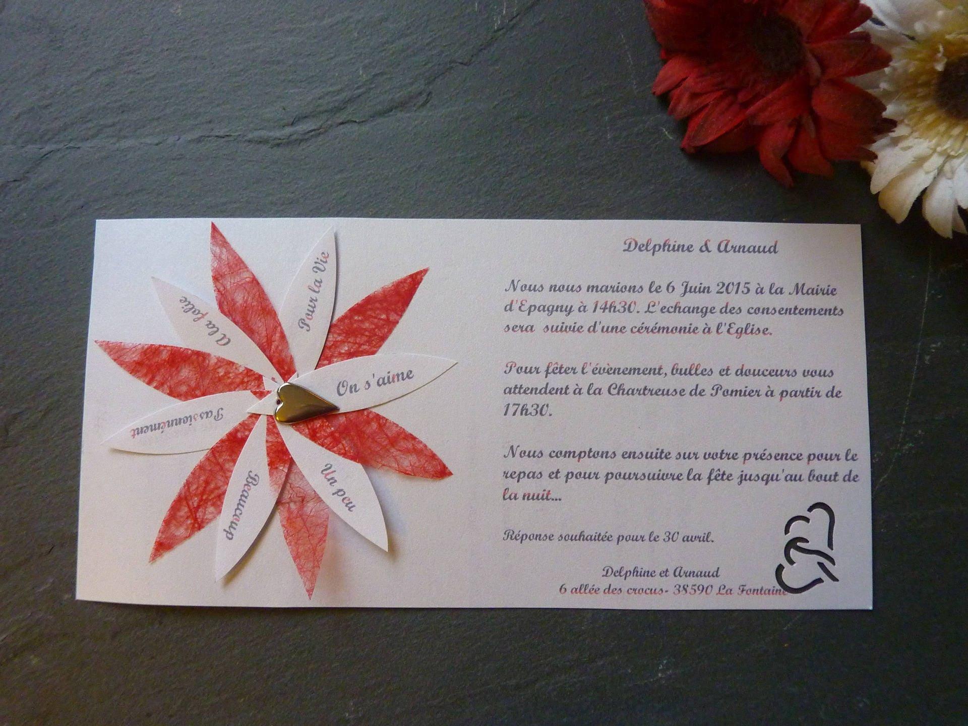 Souvent Faire-part mariage original avec enveloppe PC94