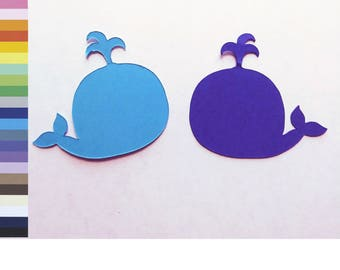 Whales Paper Card Stock Die Cut Scrapbook Embellishment Craft Supplies Cardstock Shapes