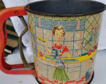 Vintage 1950s Flour Sifter