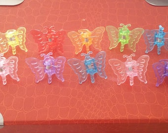 SET OF BUTTERFLY HAIR CLIPS