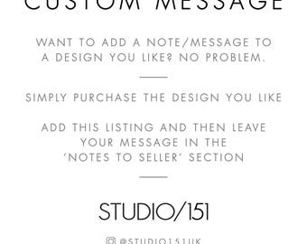 Add a note/message/name to a Design you like | Personalise Your Message to a Recipient