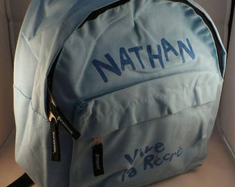 Customize school backpack