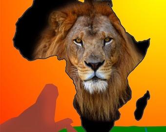 Animals of Africa - Lion Canvas