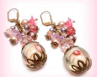 "Romantic ""Sweetness of the rose"" earrings"
