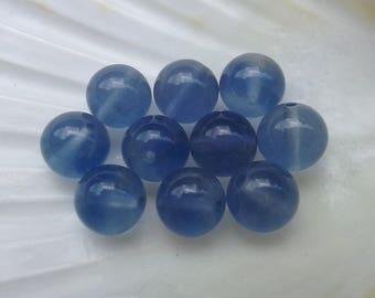 AA Fluorite Bleue Turquoise 8mm en perles rondes