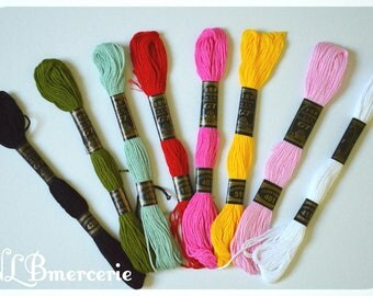 Set of 10 skeins DMC embroidery thread stranded special 8 m