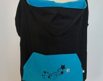 Waterproof carry black/turquoise cape cover