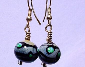 Gray super star earrings