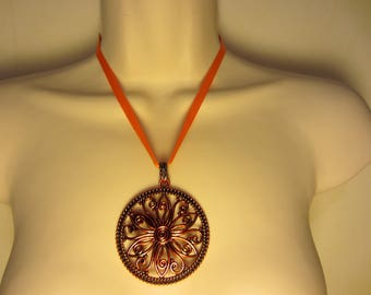 Orange and copper necklace