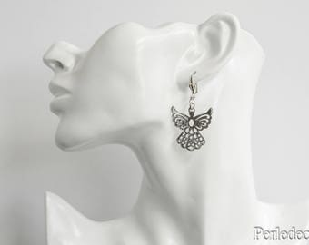 """My Angel"" silver plated Silver earrings"