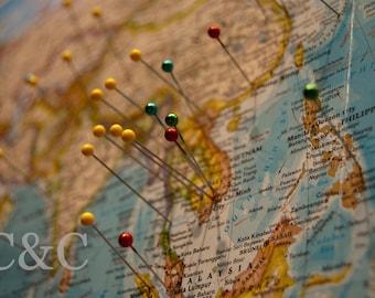 Travel Map. 8x10 photograph