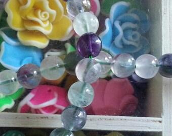 10 diameter 8 mm fluorite beads, hole 1 mm