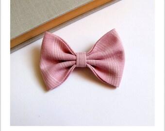 """Bow tie brooch """"skewer me"""" rose stripe"""