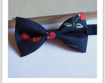 Cherry Navy bowtie