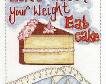 DMC Eat Cake 14 Count Cross Stitch Kit, Multi-Colour