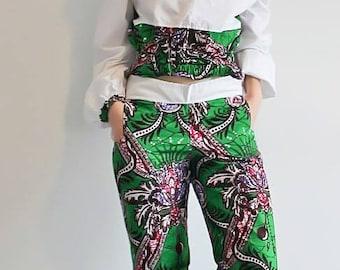Ethnic cotton pants set