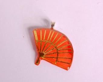 Orange and gold fan