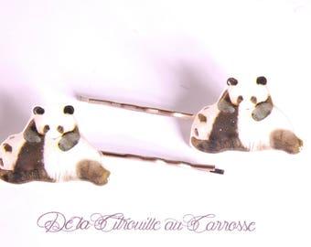 Kawaii panda hair clip