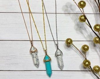 Pointed Gemstone Necklace