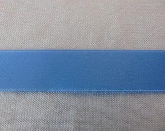 Satin ribbon, blue horizon, width 10 mm (S-0038)