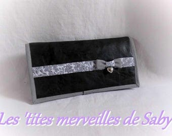 ages 4-in-1 black faux leather wallet
