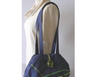 Bag * Green Jean Fleur * - cotton - Romantic fantasy
