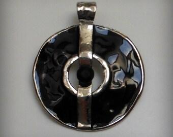 Black Circle Pendant