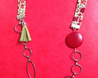 liberty necklace red and green tassel