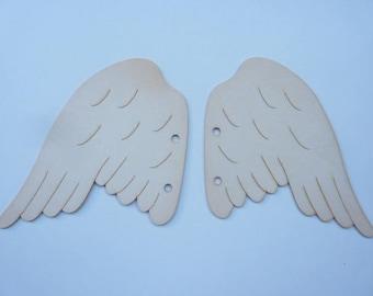 """Pair of brand Angel Wings """"Embelliscrap"""" cardboard wood"""