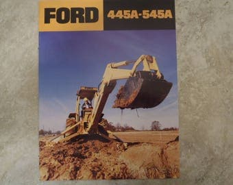 Ford 445A & 545A Construction Tractor Literature