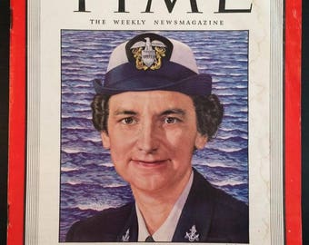 Time magazine issue March 12, 1945 WAVES cover