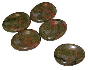 Stone unakite worry stone