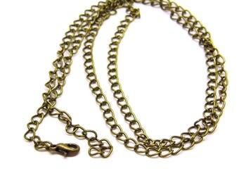Adjustable 70 cm chain necklace - bronze