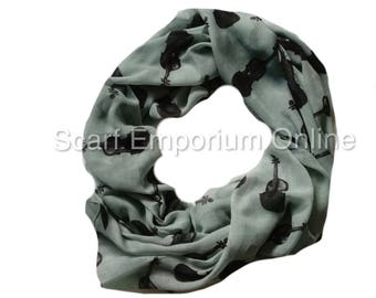 Musical Violin Scarf / Fashion Accessories / Women Scarves / Gifts For Her
