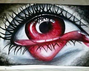 Vampire Eye 11x14