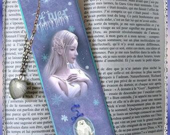"Bookmarks laminated ""Winter"", cheap gift idea"
