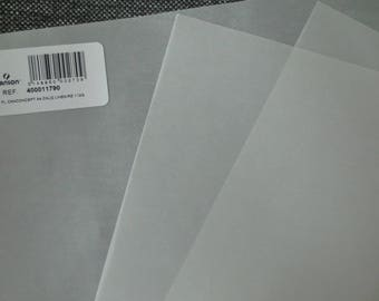 3 sheets A4 layer linear white Pinstripe Canson 112 g/m²
