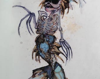 feejee mermaid print