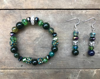 Star Jade and Austrian Crystal Set