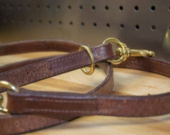 6 ft. Handcrafted Leather Lead with Floating Ring