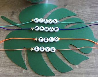 Alphabet to personalize bracelet