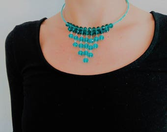 Little Diva glass blue necklace