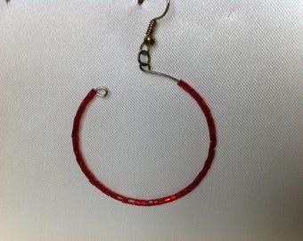 Memory wire hoop earrings
